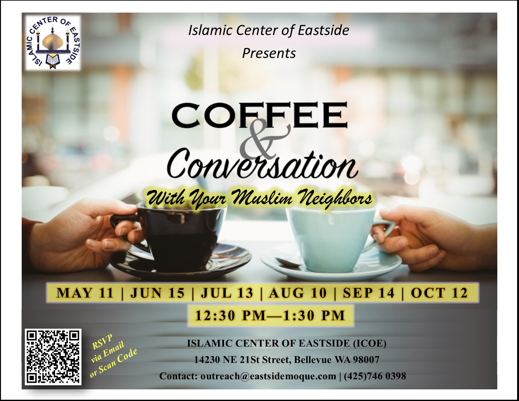 Coffee & Conversation with Your Muslim Neighbors
